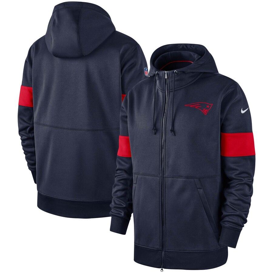 New England Patriots Nike Sideline Performance Full Zip Hoodie Navy