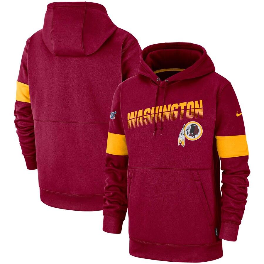 Washington Redskins Nike Sideline Team Logo Performance Pullover Hoodie Burgundy