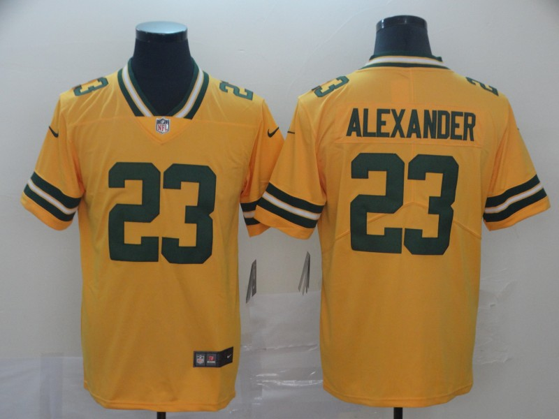 Nike Packers 23 Jaire Alexander Gold Inverted Legend Limited Jersey