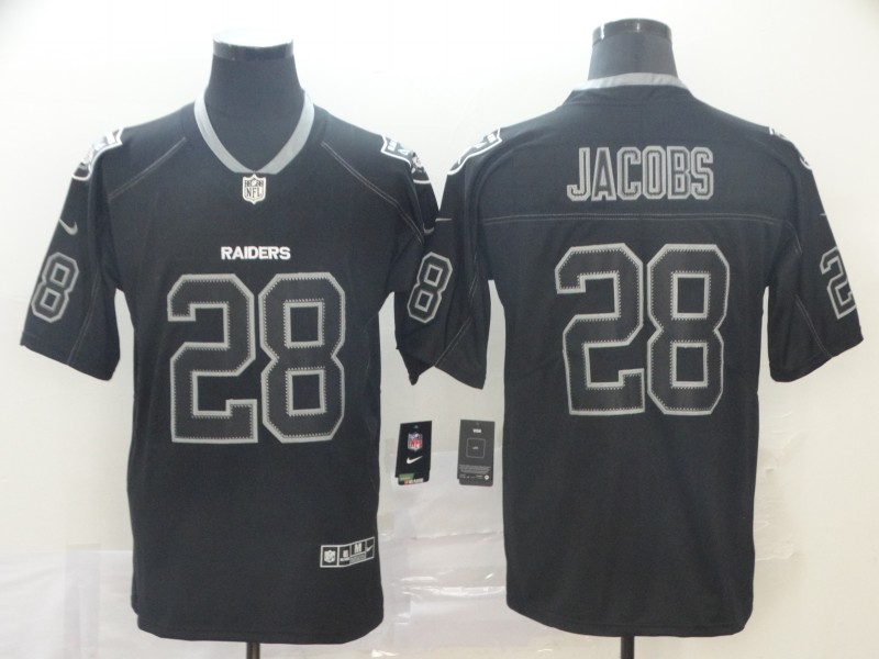 Nike Raiders 28 Josh Jacobs Black Shadow Legend Limited Jersey