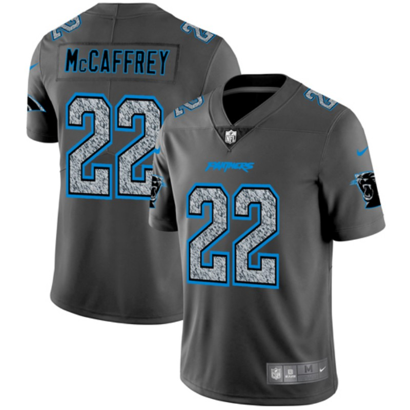 Nike Panthers 22 Christian McCaffrey Gray Camo Vapor Untouchable Limited Jersey