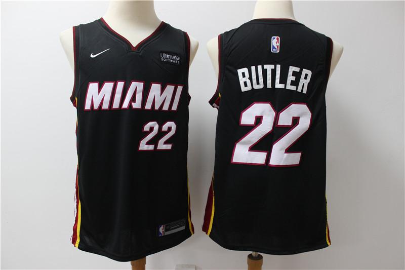 Heat 22 Jimmy Butler Black Nike Swingman Jersey