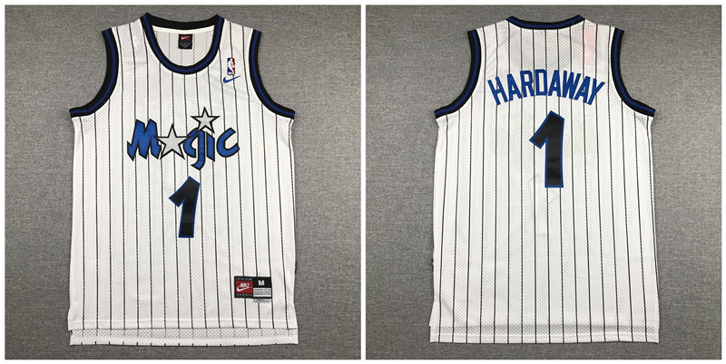Magic 1 Anfernee Hardaway White Nike Swingman Jersey