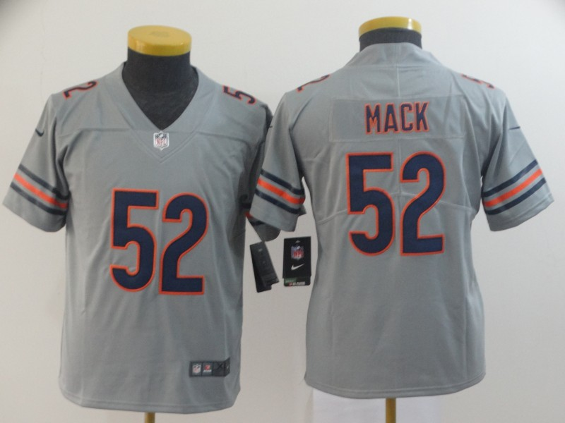 Nike Bears 52 Khalil Mack Gray Youth Inverted Legend Limited Jersey