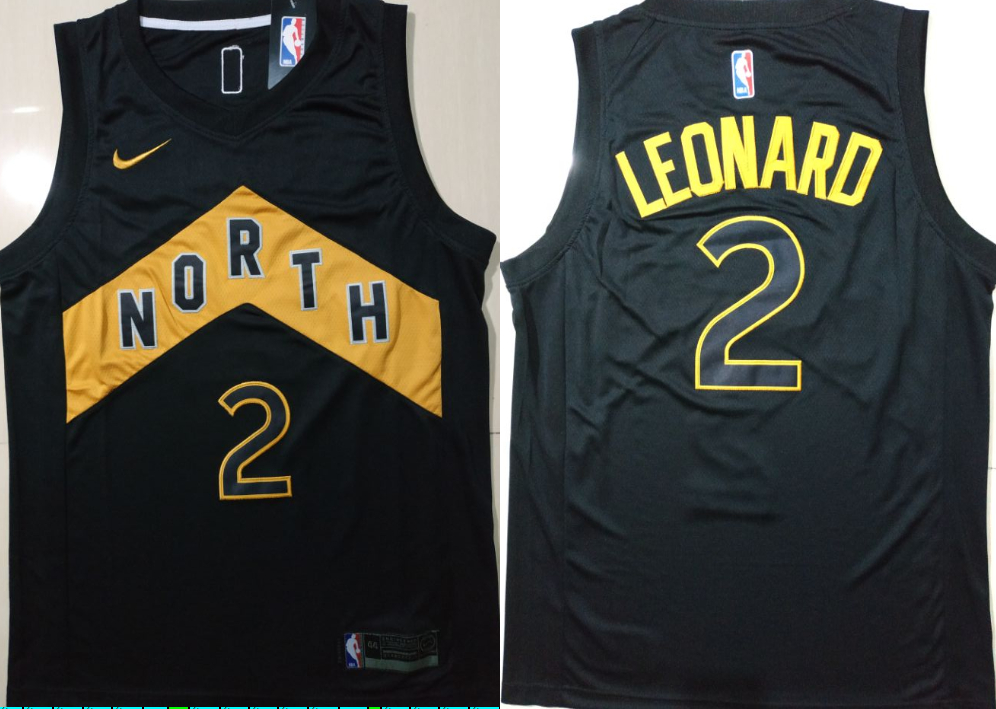 Raptors 2 Kawhi Leonard Black City Edition Nike Swingman Jersey