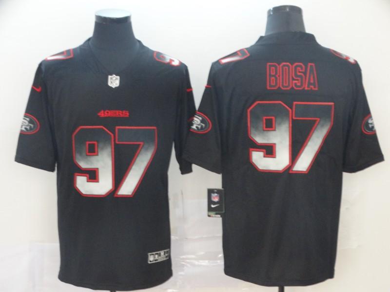 Nike 49ers 97 Nick Bosa Black Arch Smoke Vapor Untouchable Limited Jersey