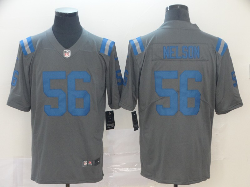 Nike Colts 56 Quenton Nelson Gray Inverted Legend Limited Jersey