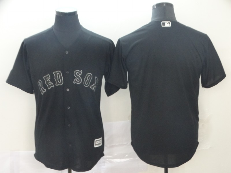 Red Sox Blank Black 2019 Players' Weekend Authentic Player Jersey