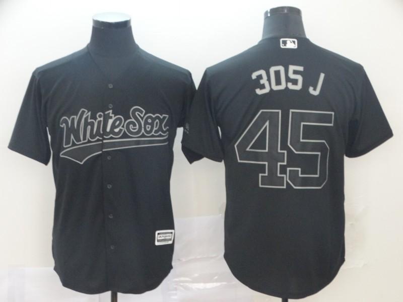 "White Sox 45 Michael Jordan ""305 J"" Black 2019 Players' Weekend Player Jersey"