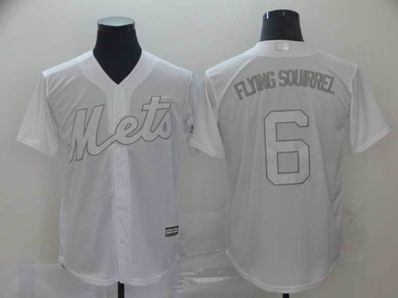 "Mets 6 Jeff McNeil ""Flying Squirrel"" White 2019 Players' Weekend Authentic Player Jersey"