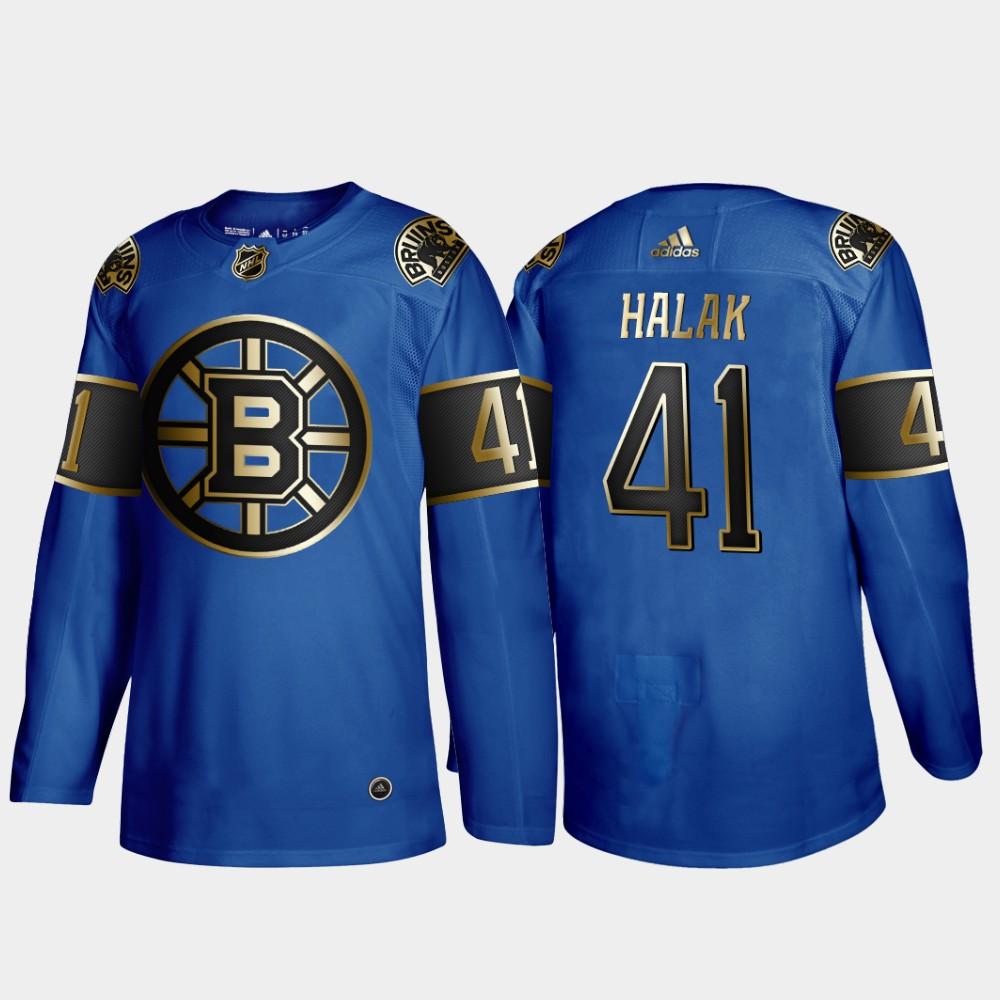 Bruins 41 Jaroslav Halak Blue 50th anniversary Adidas Jersey