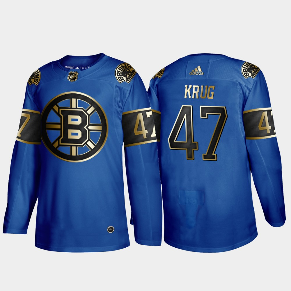 Bruins 47 Torey Krug Blue 50th anniversary Adidas Jersey