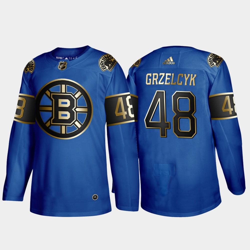 Bruins 48 Matt Grzelcyk Blue 50th anniversary Adidas Jersey