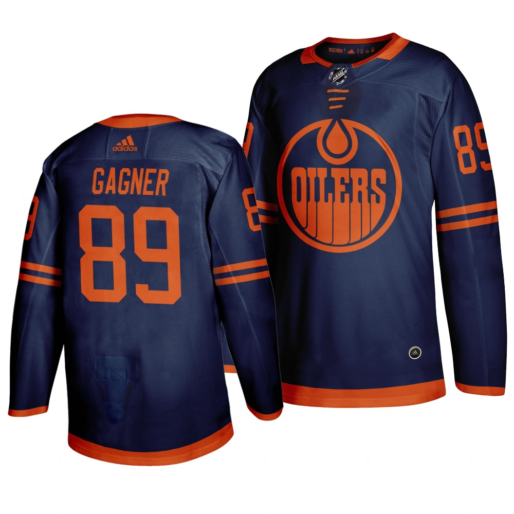 Oilers 89 Sam Gagner Navy 50th anniversary Adidas Jersey