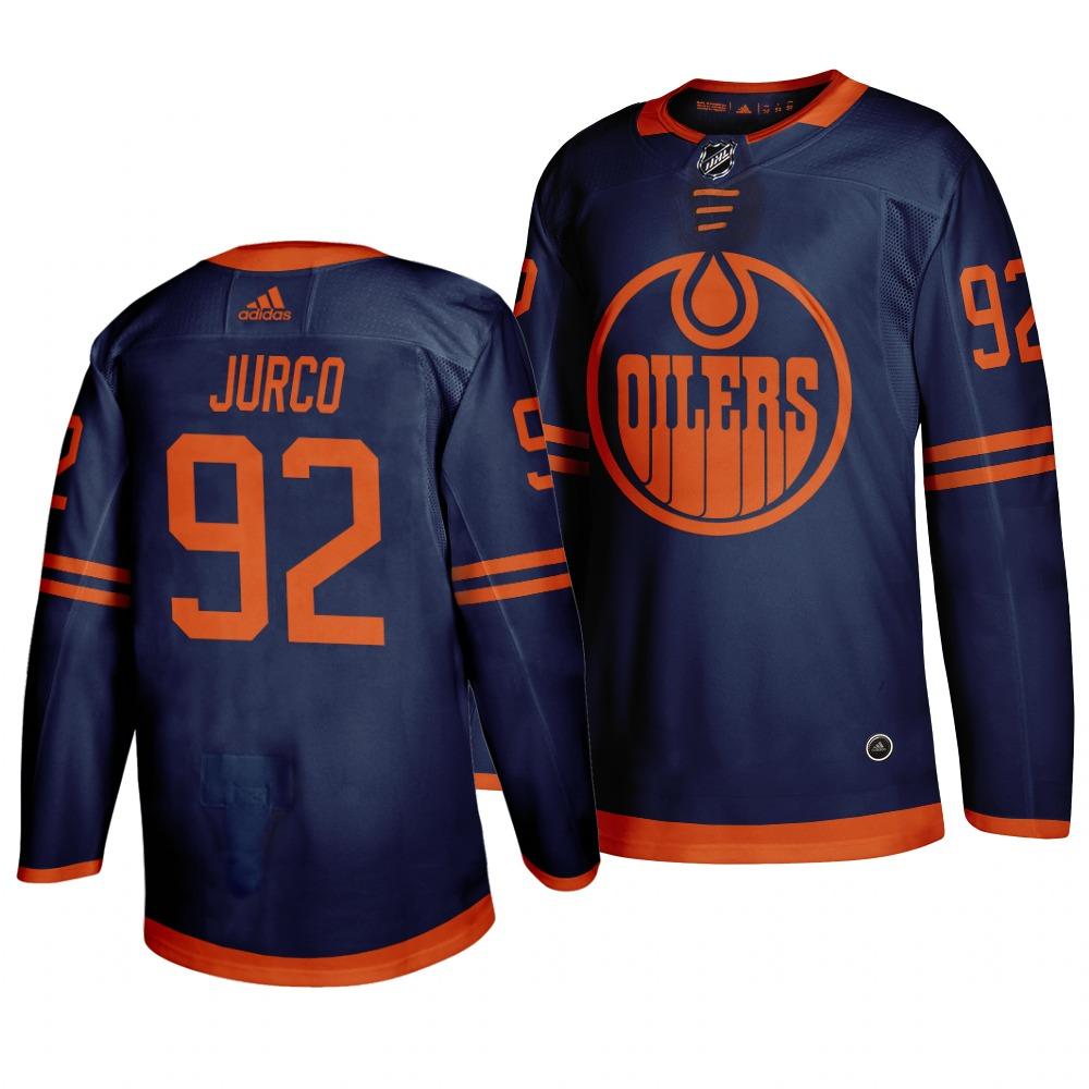Oilers 92 Tomas Jurco Navy 50th anniversary Adidas Jersey
