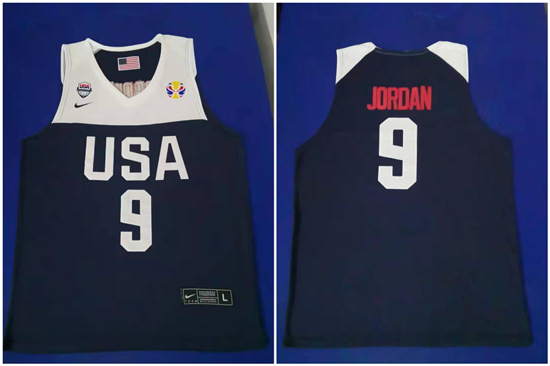 Team USA 9 Michael Jordan Navy 2016 Olympics Basketball Swingman Jersey