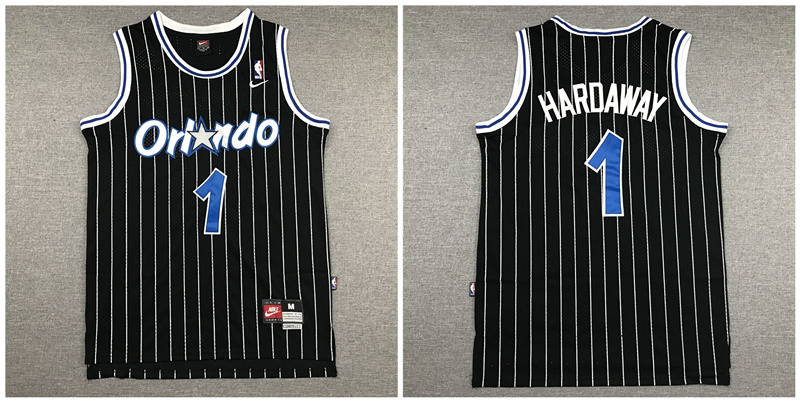 Magic 1 Anfernee Hardaway Black Nike Swingman Jersey