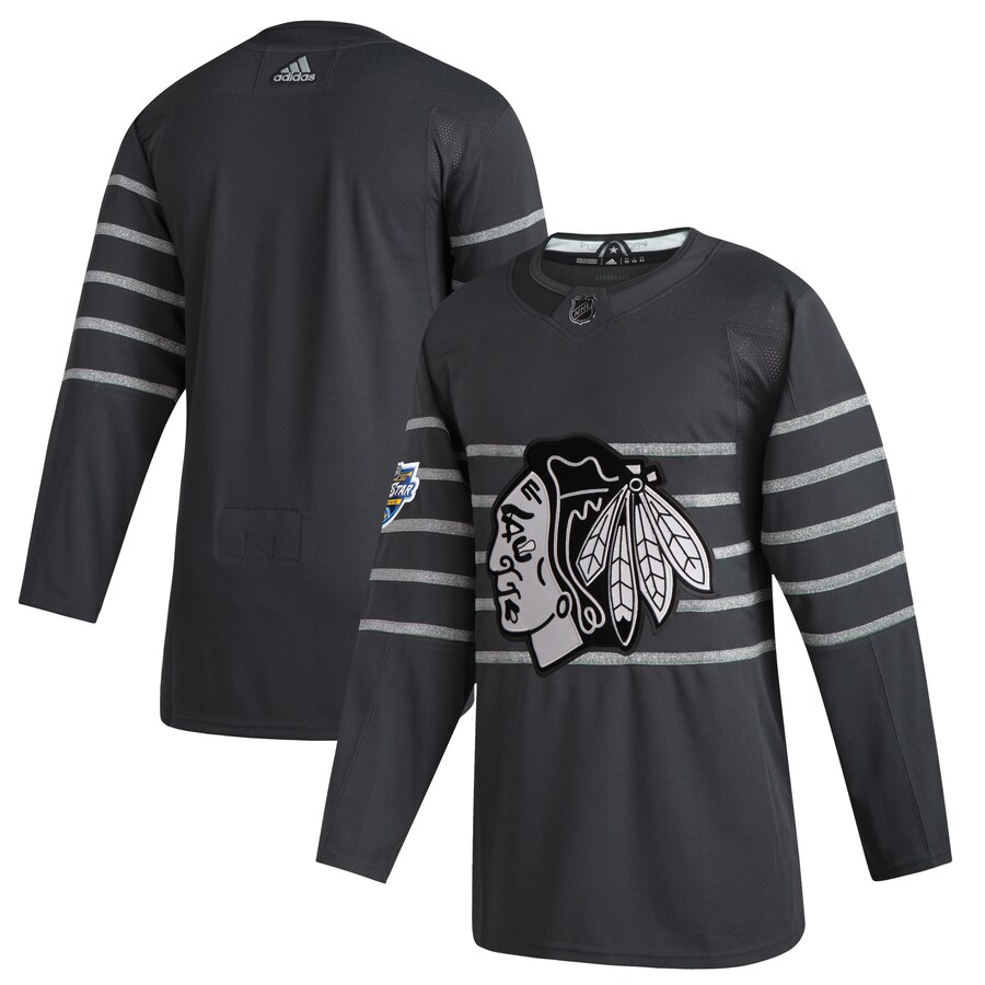 Blackhawks Blank Gray 2020 NHL All-Star Game Adidas Jersey
