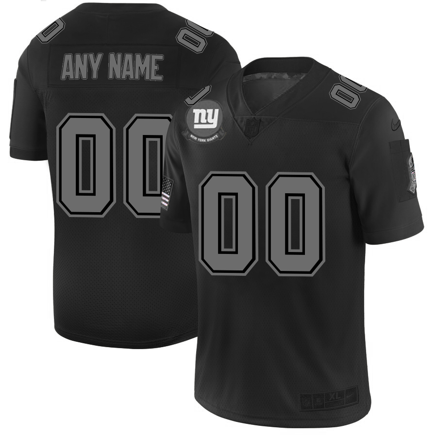 Nike Giants Customized 2019 Black Salute To Service Fashion Limited Jersey