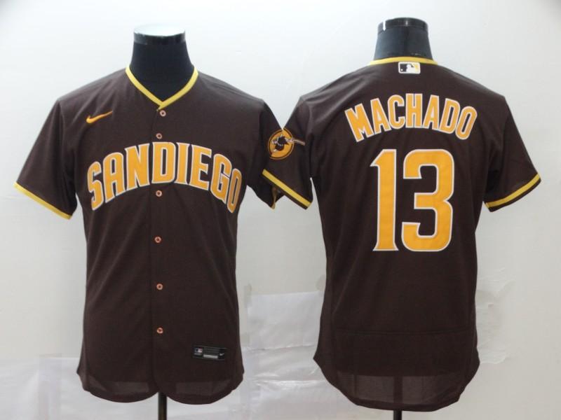 Padres 13 Manny Machado Brown Nike 2020 Flexbase Jersey
