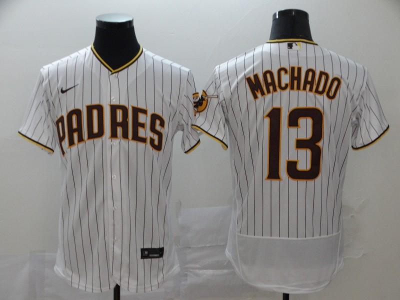 Padres 13 Manny Machado White Nike 2020 Flexbase Jersey