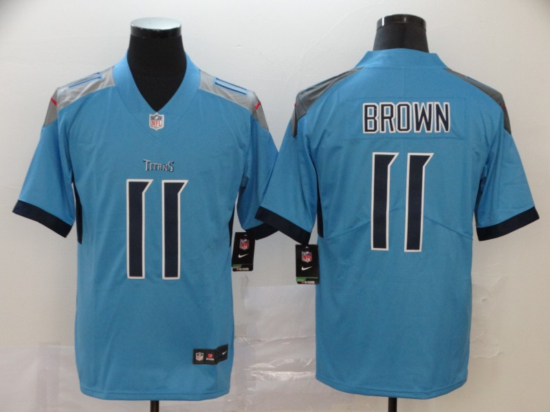 Nike Titans 11 A.J. Brown Blue New Vapor Untouchable Limited Jersey