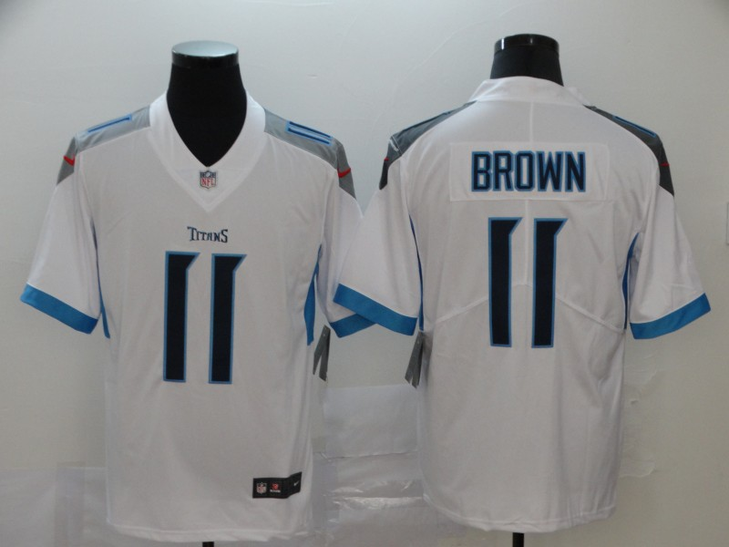 Nike Titans 11 A.J. Brown White New Vapor Untouchable Limited Jersey