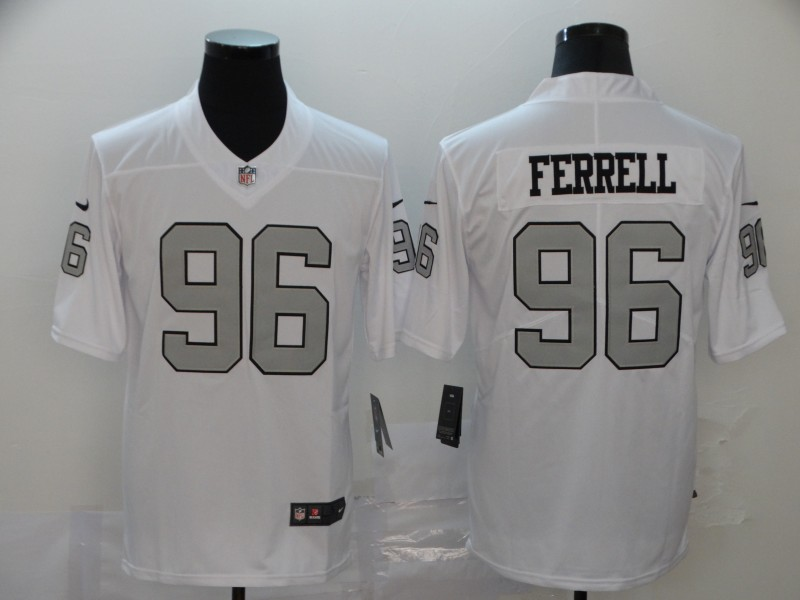 Nike Raiders 96 Clelin Ferrell White Color Rush Limited Jersey
