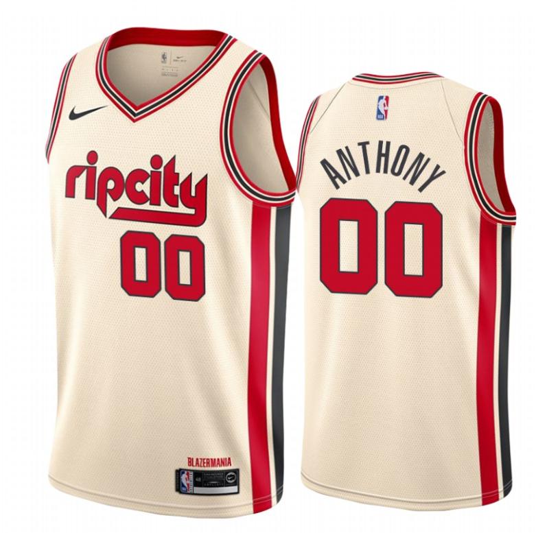 Blazers 00 Carmelo Anthony Cream 2019-20 Nike Swingman Jerseys