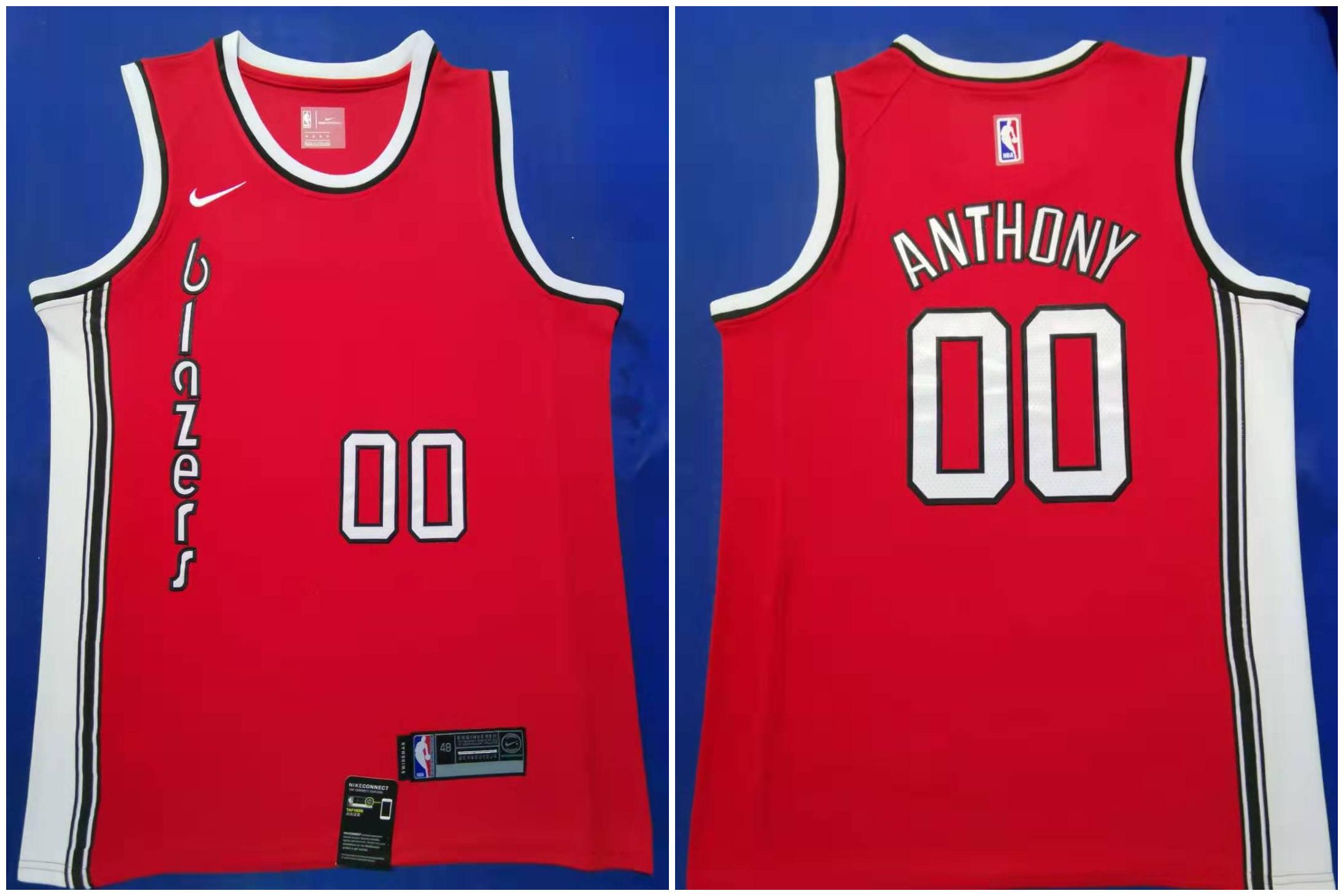 Blazers 00 Carmelo Anthony Red 2019-20 Nike Swingman Jersey