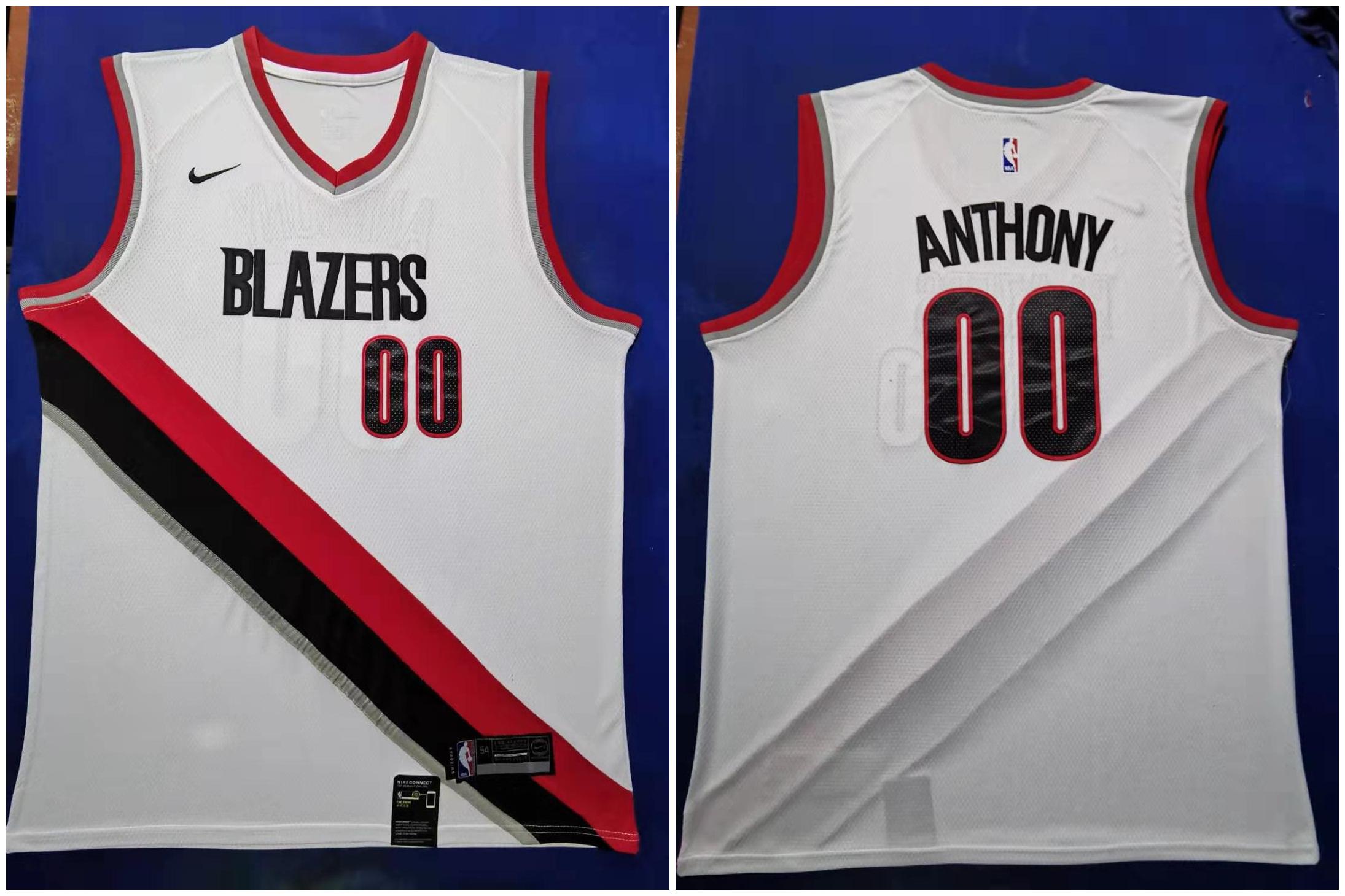 Blazers 00 Carmelo Anthony White 2019-20 Nike Swingman Jersey