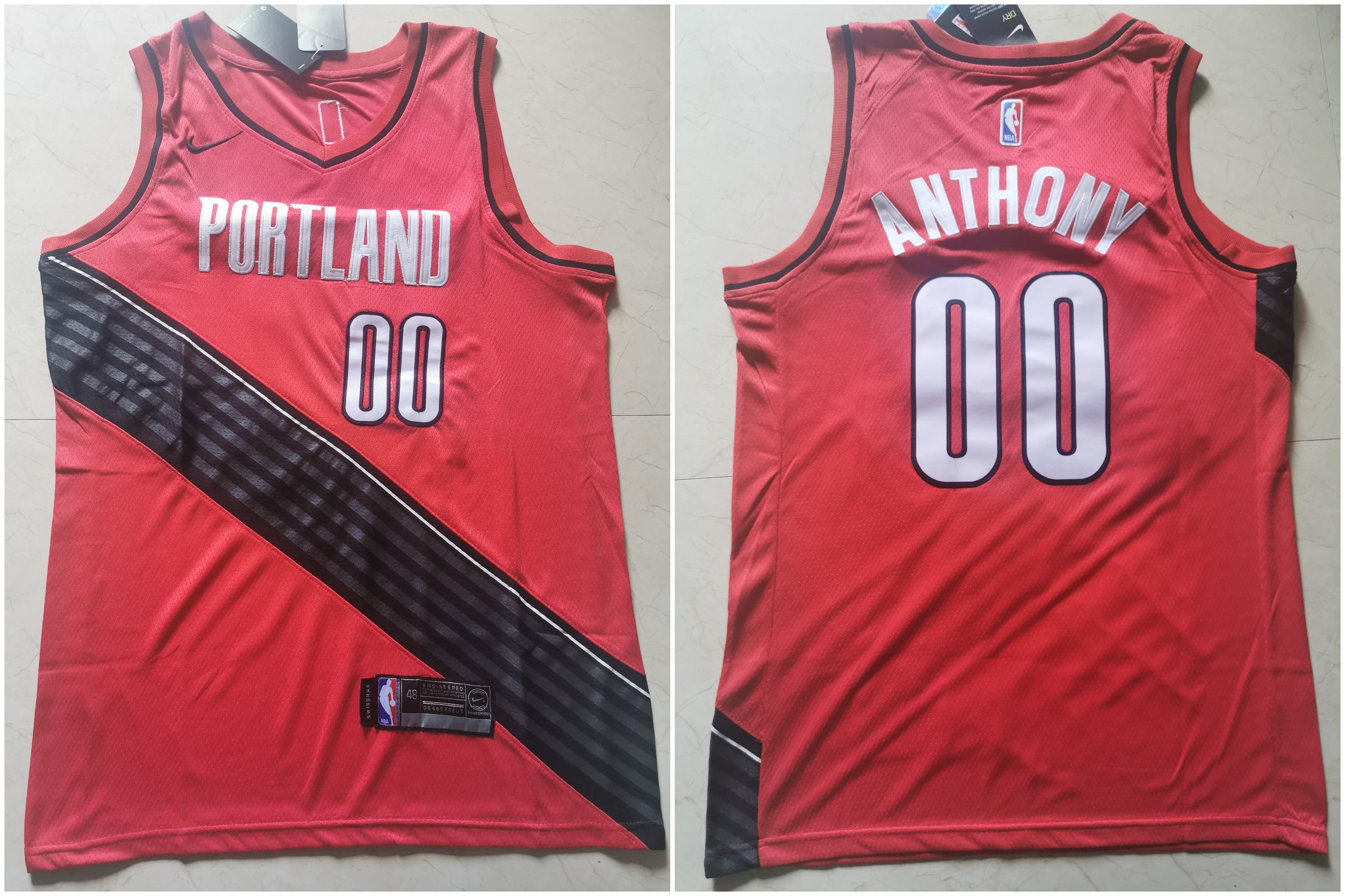 Blazers 00 Carmelo Anthony White City Edition Nike Swingman Jersey