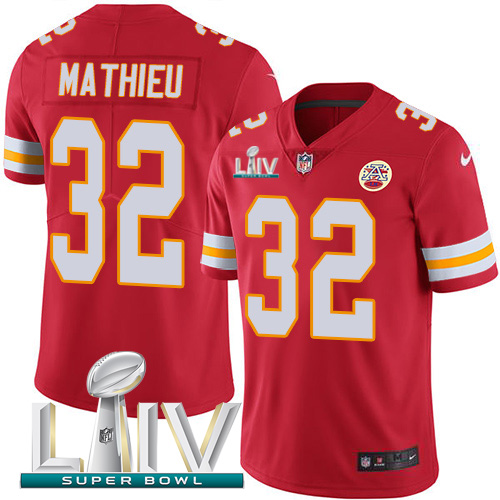 Nike Chiefs 32 Tyrann Mathieu Red 2020 Super Bowl LIV Vapor Untouchable Limited Jersey