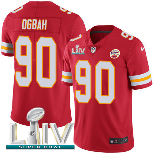 Nike Chiefs 90 Emmanuel Ogbah Red 2020 Super Bowl LIV Vapor Untouchable Limited Jersey