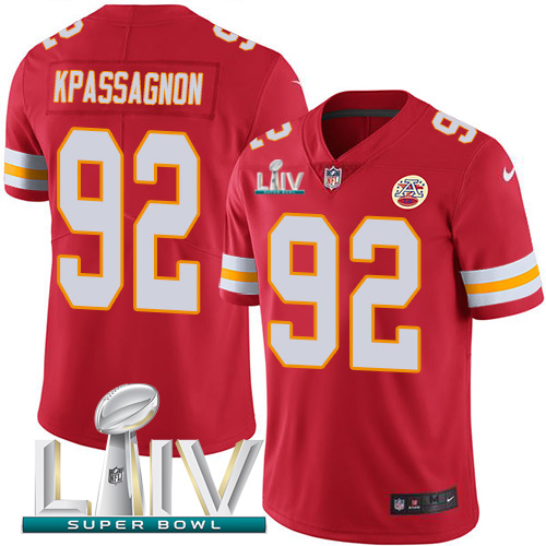 Nike Chiefs 92 Tanoh Kpassagnon Red 2020 Super Bowl LIV Vapor Untouchable Limited Jersey