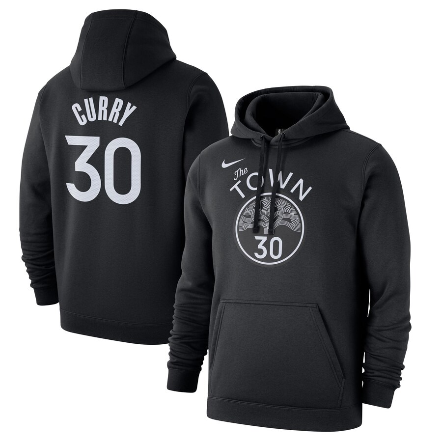 Golden State Warriors 30 Stephen Curry Nike 2019-20 City Edition Name & Number Pullover Hoodie Black