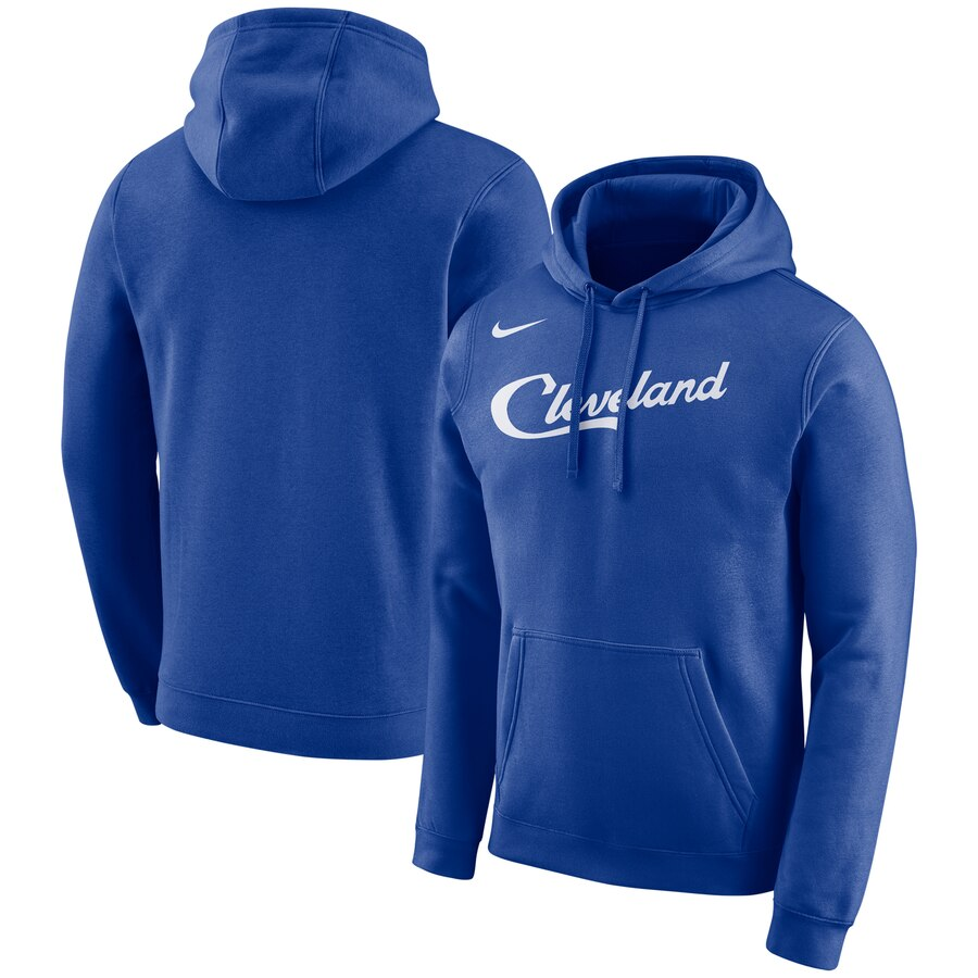 Cleveland Cavaliers Nike City Edition Logo Essential Pullover Hoodie Blue