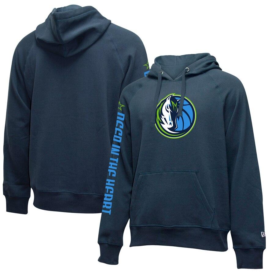 Dallas Mavericks New Era 201920 City Edition Pullover Hoodie Navy