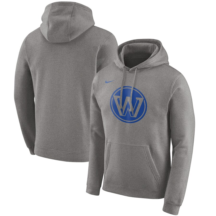 Golden State Warriors Nike 201920 City Edition Club Pullover Hoodie Heather Gray