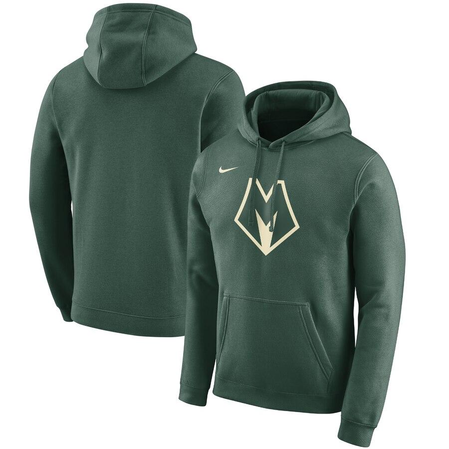 Milwaukee Bucks Nike 2019-20 City Edition Club Pullover Hoodie Green