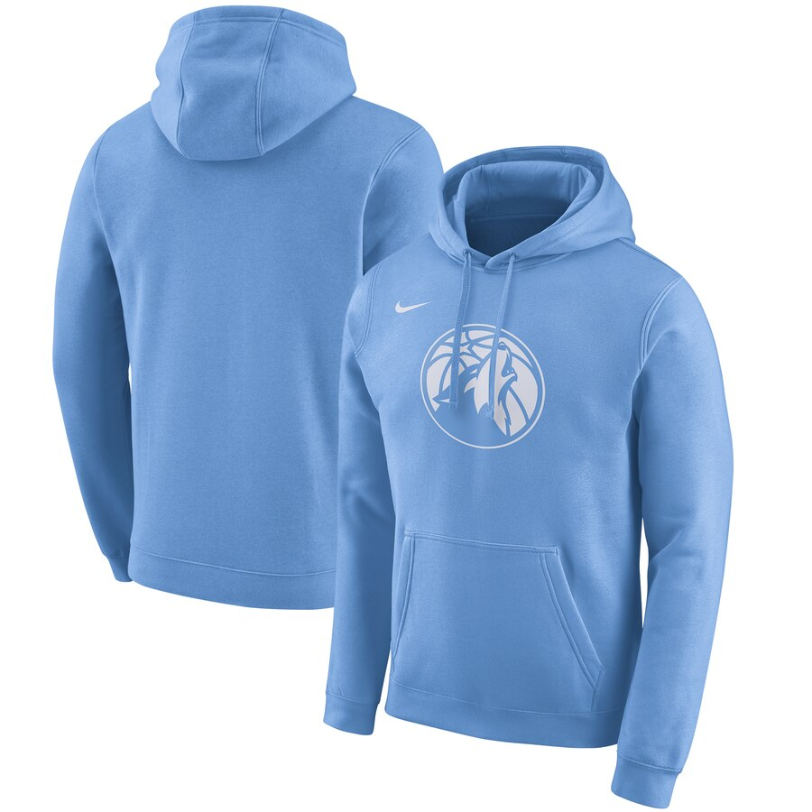 Minnesota Timberwolves Nike 2019-20 City Edition Club Pullover Hoodie Blue