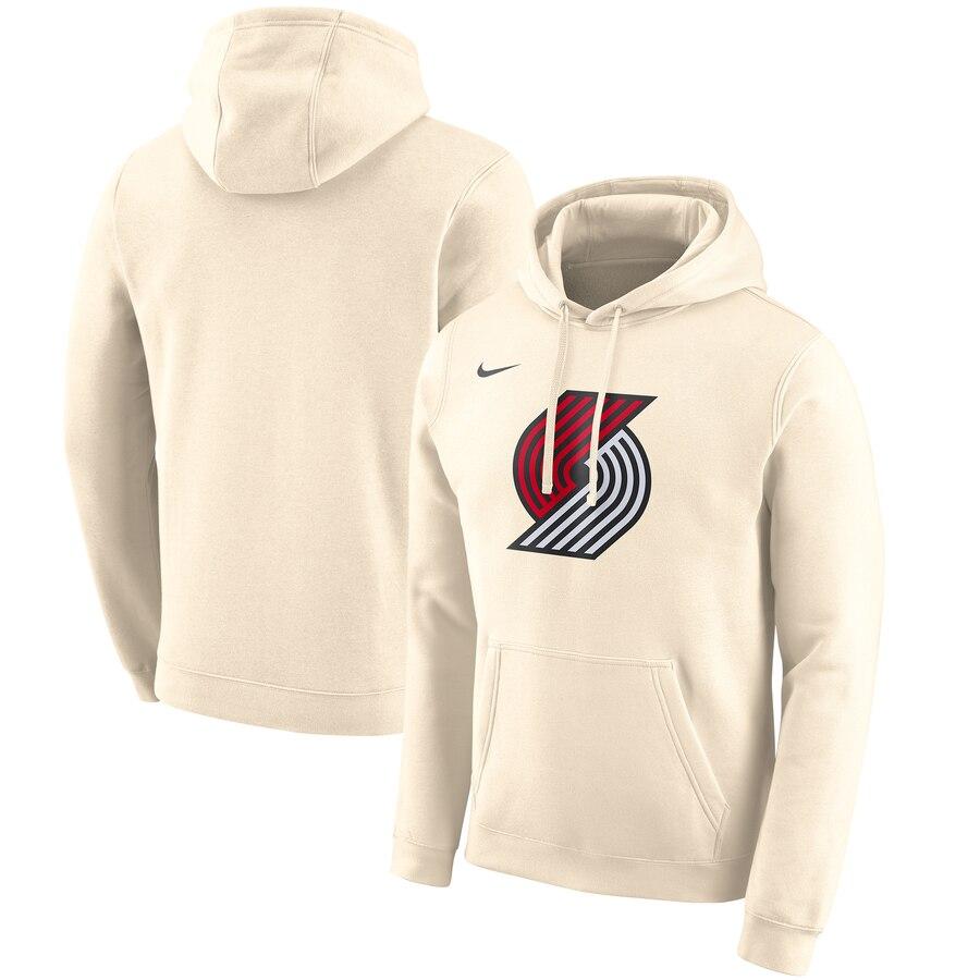 Portland Trail Blazers Nike 2019-20 City Edition Club Pullover Hoodie Cream