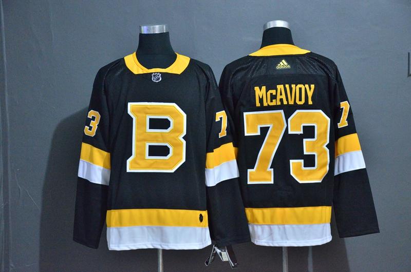 Bruins 73 Charlie McAvoy Black Adidas Jersey