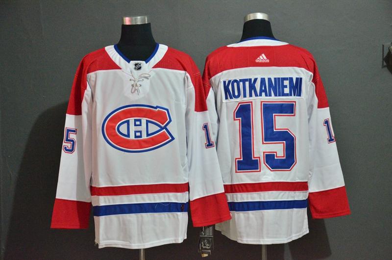 Canadiens 15 Jesperi Kotkaniemi White Adidas Jersey