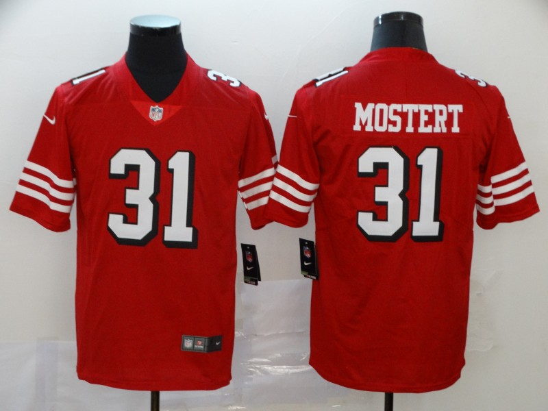Nike 49ers 31 Raheem Mostert Red Color Rush Vapor Untouchable Limited Jersey