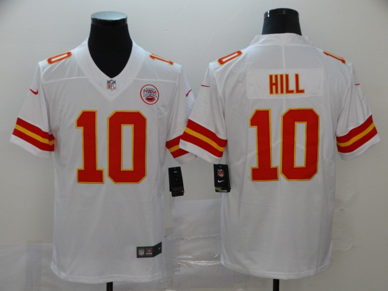 Nike Chiefs 10 Tyreek Hill White Vapor Untouchable Player Limited Jersey