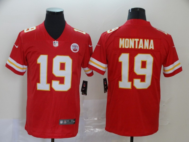 Nike Chiefs 19 Joe Montana Red Vapor Untouchable Limited Jersey