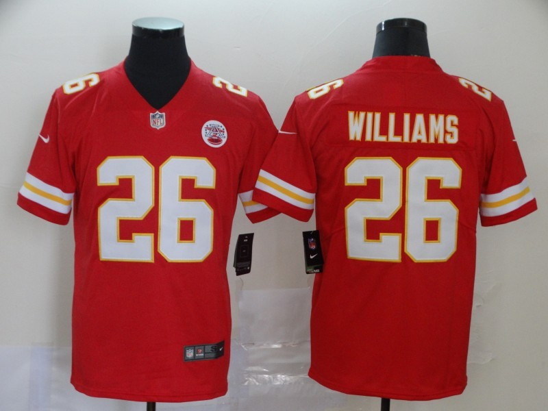 Nike Chiefs 26 Damien Williams Red Vapor Untouchable Limited Jersey