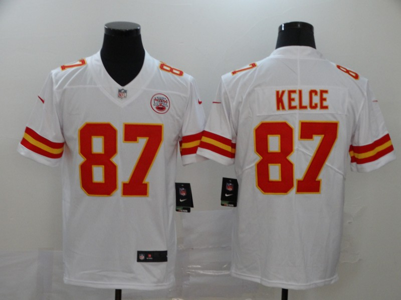Nike Chiefs 87 Travis Kelce White Vapor Untouchable Player Limited Jersey