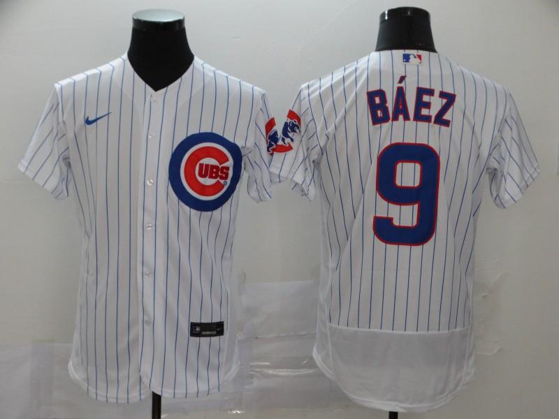 Cubs 9 Javier Baez White Flexbase Jersey